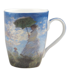 Claude Monet Woman with a Parasol Tea Mug w/ Infuser and Lid